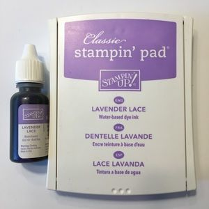 Stampin Up Classic Ink Pad & Reinker Lavender Lace